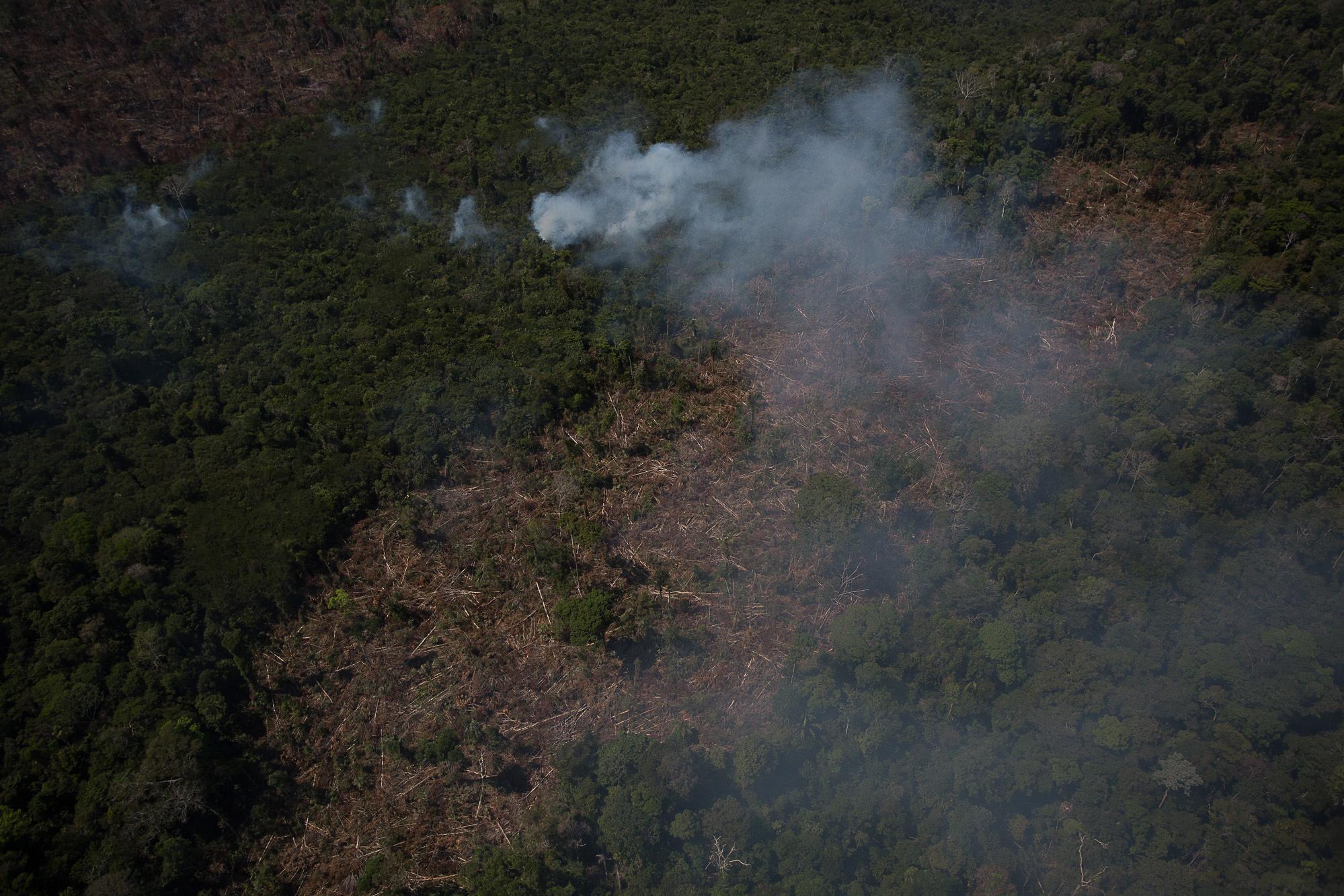 Registro das queimadas da Amazônia em agosto de 2020. / Foto: Bruno Kelly/Amazônia Real