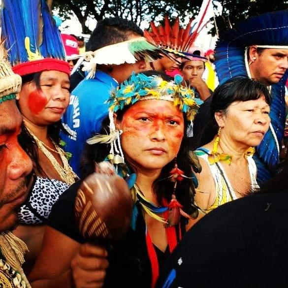 A pesquisa da jovem indígena Borari aborda temas a invisibilização dos povos indígenas e violações de seus direitos. Foto: acervo pessoal