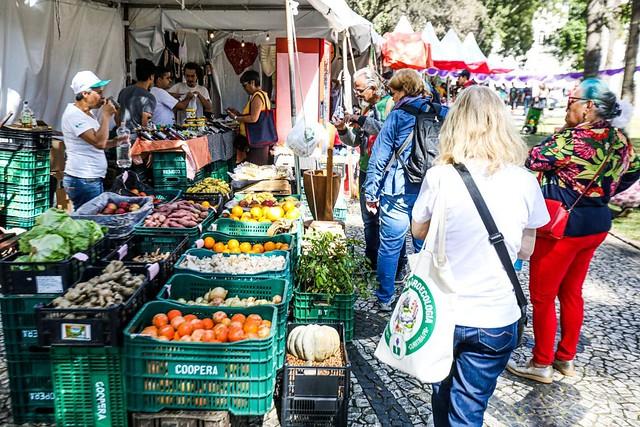 Jornada de Agroecologia do Paraná intensificou a troca entre produtores agroecológicos e a cidade de Curitiba. Foto: Vanessa Nicolav