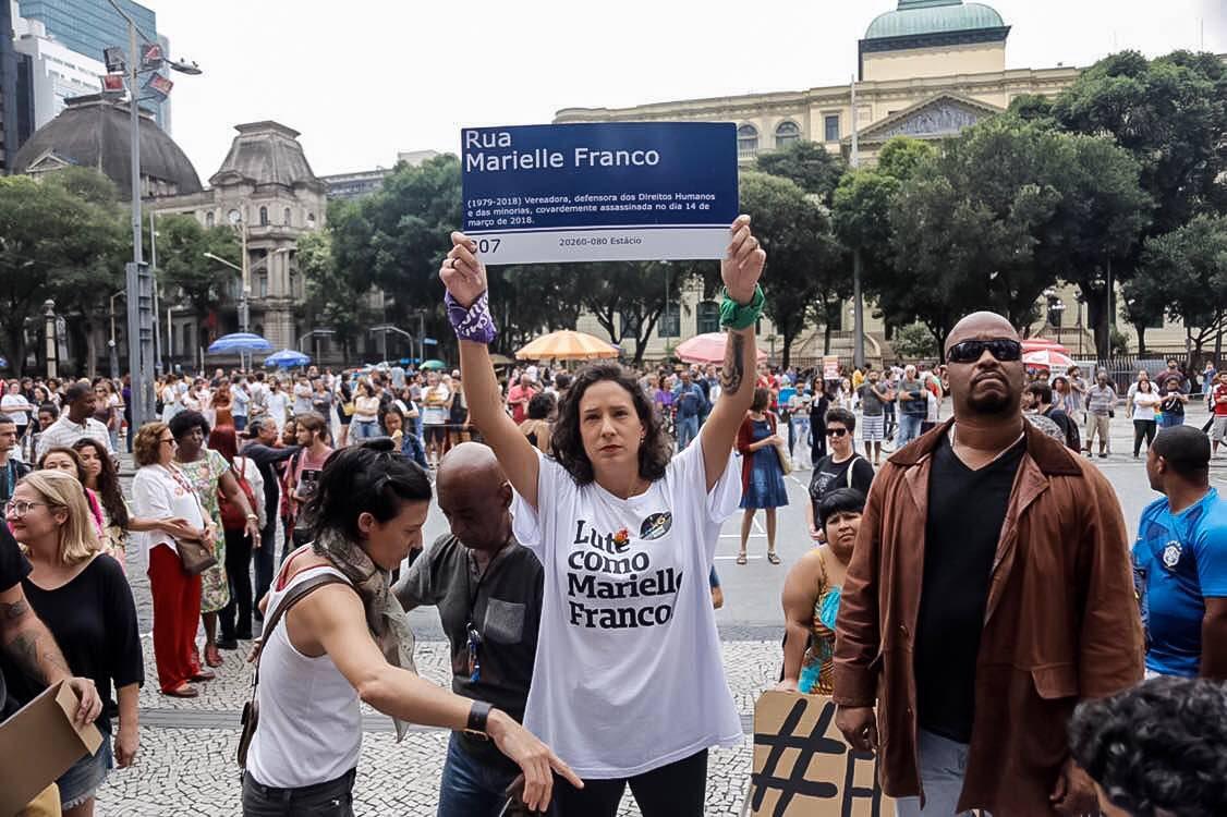 Completo quase um ano da execução de Marielle Franco, o caso não foi elucidado. Foto: Emy Lobo/ Mídia Ninja