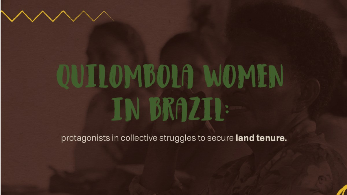 Every quilombola woman is a resistance synonym - Articles