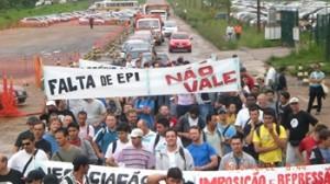 Manifestação dos trabalhadores da Ultrafertil PR