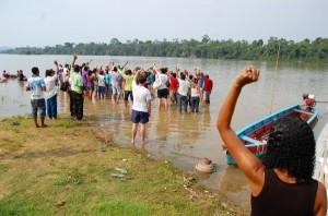 Encontro com extrativistas - comunidade Pimental, Oeste do Pará - 2012