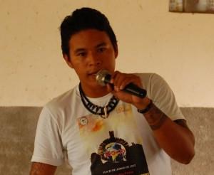 João Tapajós, do Conselho Indígena Tapajós Arapiuns – CITA (Foto: Ramon Santos)