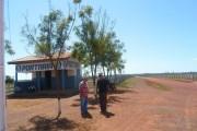 Portaria de entrada da fazenda, local onde o trabalhador teria sido assassinado (Foto: Divulgação)