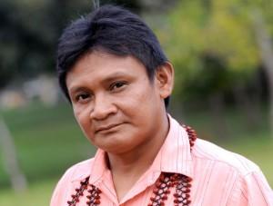 Josias Munduruku, lider dos guerreiros mundurukus.
