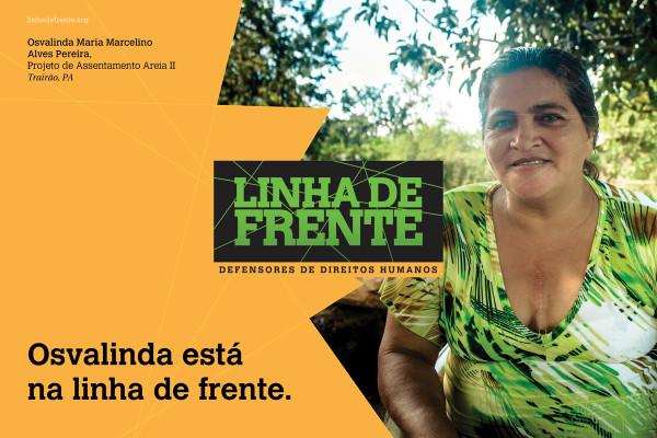 Osvalinda Maria Marcelino Alves Pereira, moradora do Projeto de Assentamento (PA), PA Areia II