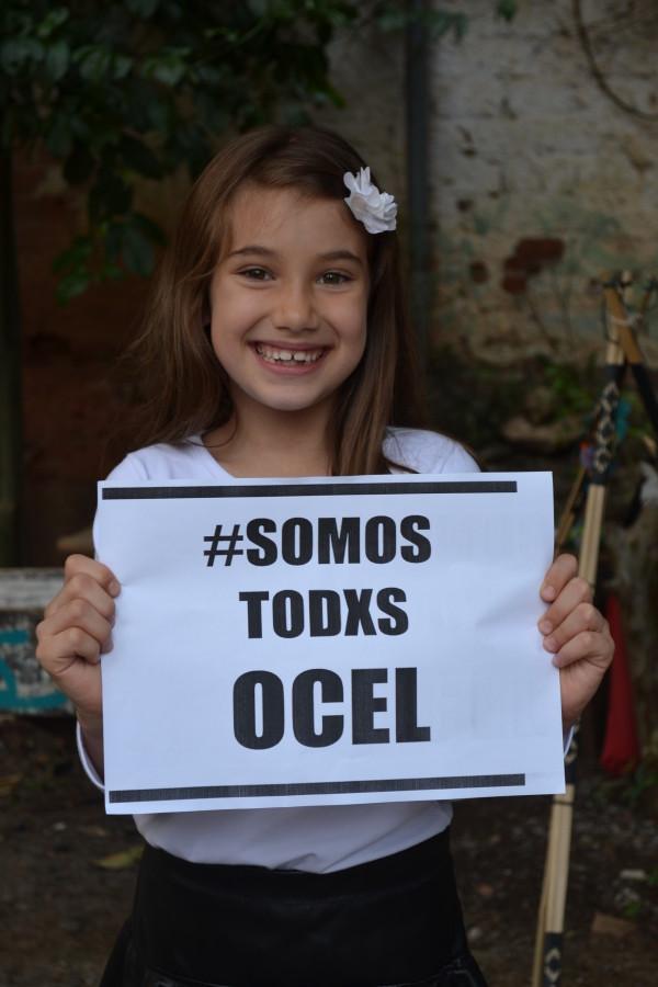 A pequena Gabriela também apóia a OCEL
