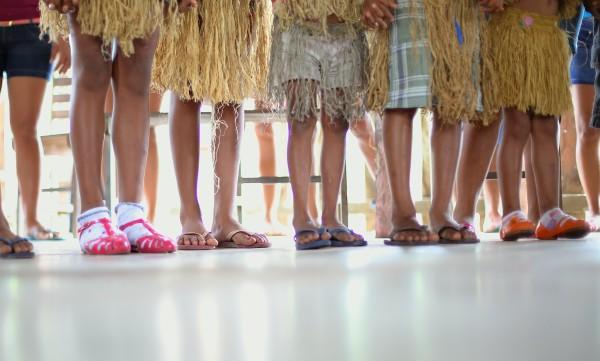 Mistura do tradicional e do não tradicional é comum aos povos indígenas contemporâneos (Foto: Ana Aranha)
