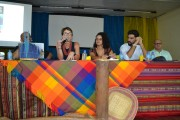 """""""A Consulta Prévia não é uma ação afirmativa. É um imperativo da sociedade plural"""", Deborah Duprat, durante seminário Direito e Desenvolvimento. Na mesa, da esquerda para direita: Deborah Duprat (MPF), Layza Queiroz (Terra de Direitos), Luís de Camões, (MPF) Valdomiro de Souza (Ufopa). Confira: goo.gl/cpVA9V"""