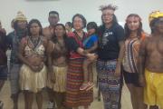 Indígenas e a relatora da ONU