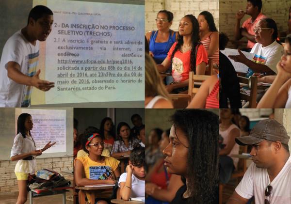 Fotos Bob Barbosa, durante aulão do Cursinho Quilombola na comunidade de Murumuru, município de Santarém