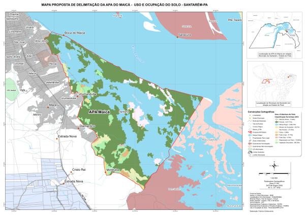 A Área de Proteção Ambiental Municipal tem como pontos limítrofes o furo do Maicá ao oeste, o Igarapé do Jacaré ao leste e o Rio Amazonas ao norte