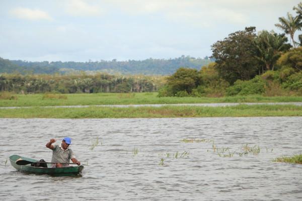 foto tirada no Lago do Maicá, em Santarém, por Bob Barbosa / Terra de Direitos