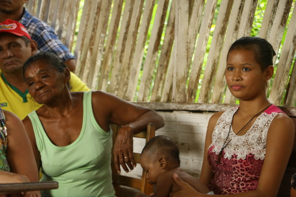 Quilombolas de Murumuru em reunião comunitária na defesa dos seus territórios e águas. Foto por Bob Barbosa / Terra de Direitos