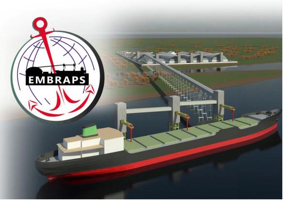 Projeção extraída do Relatório de Impacto Ambiental (RIMA) do porto da Embraps