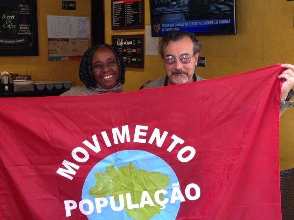 Maria Lucia, do Movimento Nacional da População em Situação de Rua, e Horacio Ávila Piñeiro, do proyecto SETI (Search for Extraterrestrial Intelligence).
