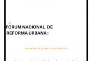FÓRUM NACIONAL DE REFORMA URBANA