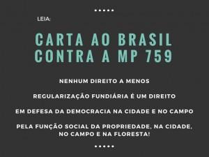 CARTA AO BRASIL CONTRA A MP 759