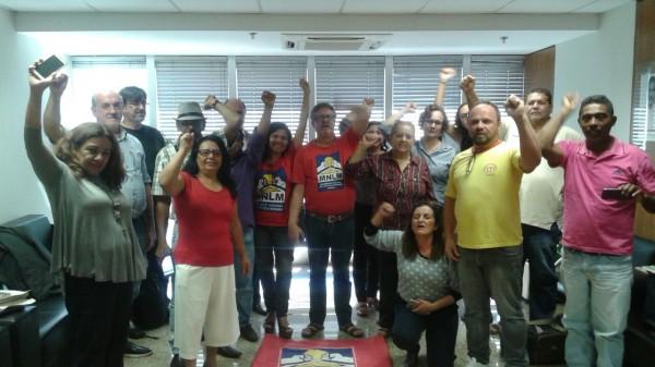 Manifestantes ocupam Ministério das Cidades nesta segunda-feira (12). Foto de Maria Eugenia Trombini